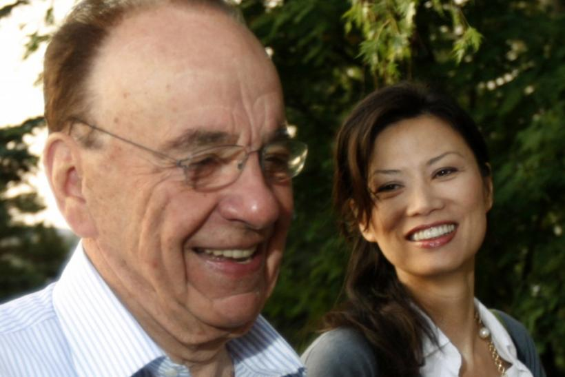 News Corp. chief Rupert Murdoch and his wife Wendi Deng arrive for the second session of the Allen and Co. conference at the Sun Valley Resort in Sun Valley