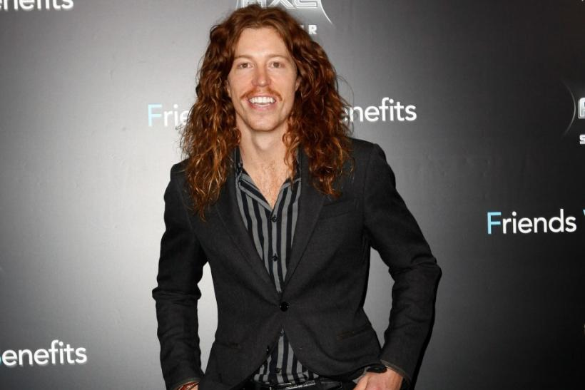 "Cast member Shaun White poses as he arrives at the premiere for ""Friends With Benefits"" in New York City"