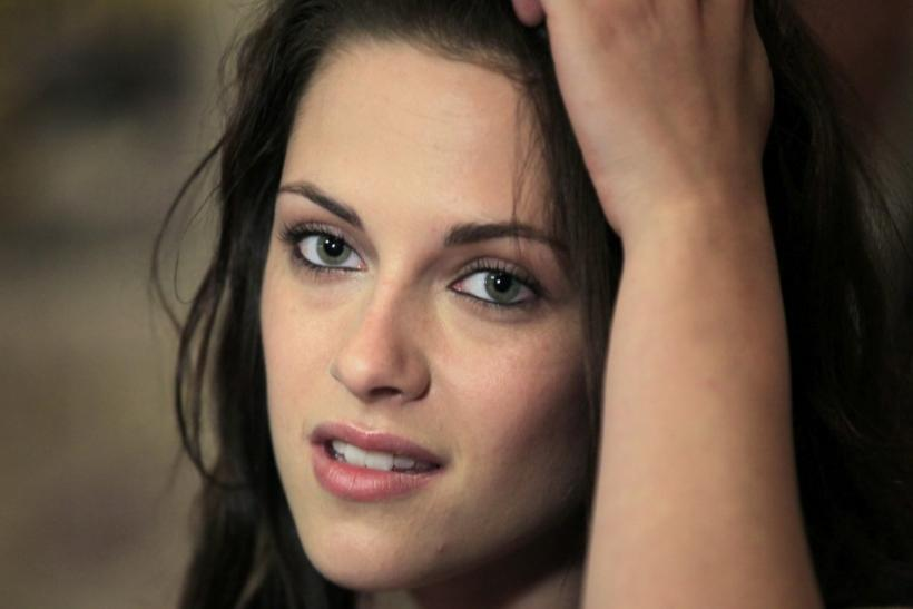 "Actress Kristen Stewart poses to promote ""Breaking Dawn"" from the Twilight Saga at Comic Con in San Diego, California"