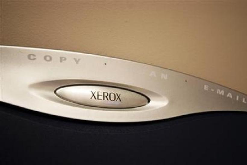A generic picture of a Xerox logo on a photocopier.