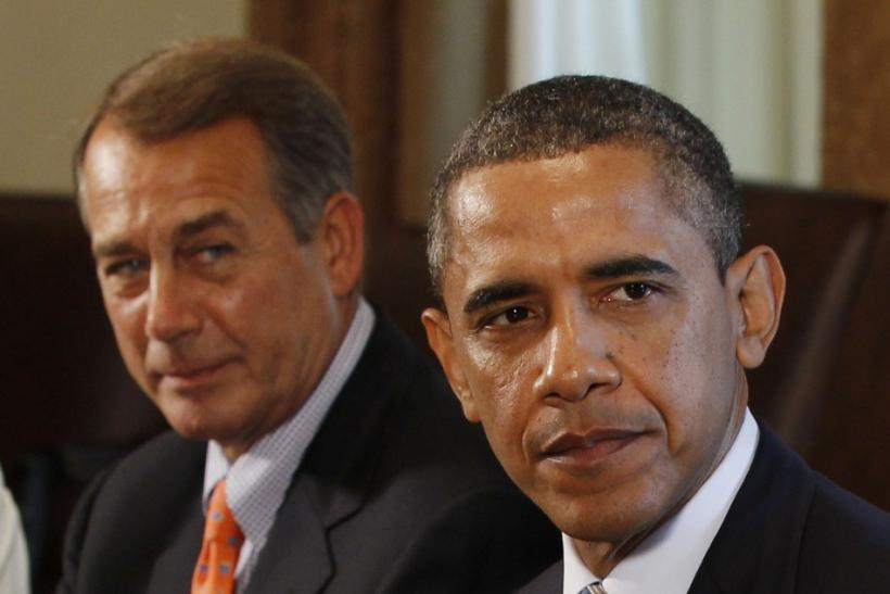U.S. President Barack Obama (right) with House Speaker John Boehner