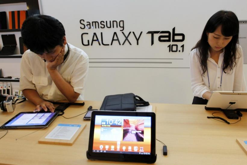 The Galaxy Tab 10.1,