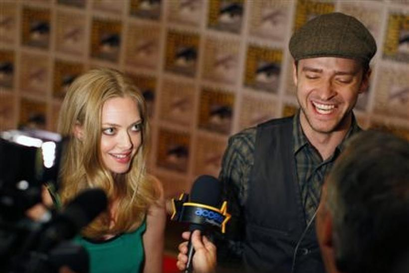 Timberlake, Seyfried talk ''In Time'' at Comic-Con