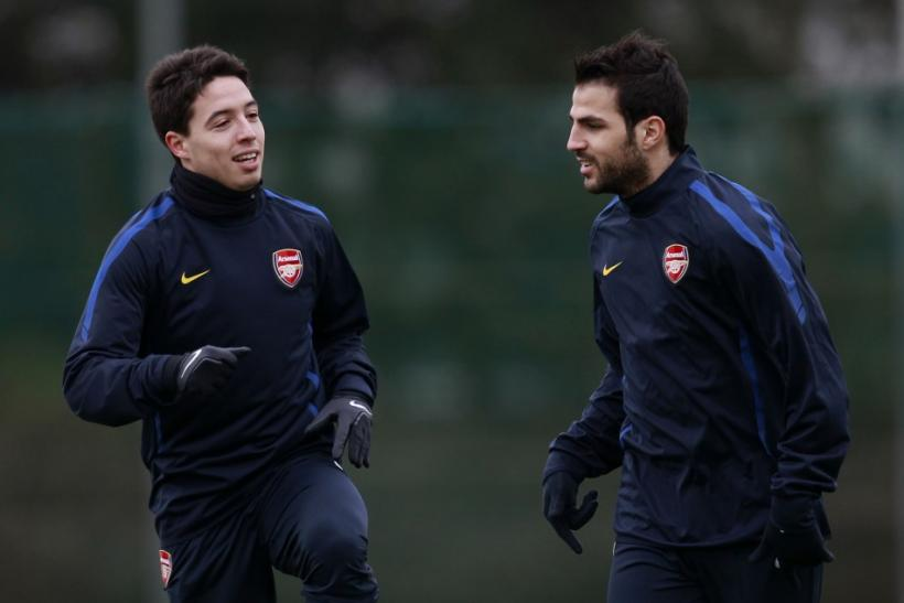 Samir Nasri and Cesc Fabregas