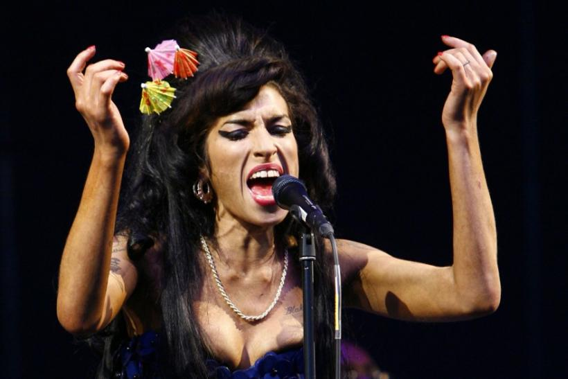 British singer Amy Winehouse performs at the Glastonbury Festival 2008 in Somerset in south west England June 28, 2008