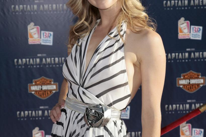 "Dormer arrives at the ""Captain America: The First Avenger"" film premiere in Hollywood"