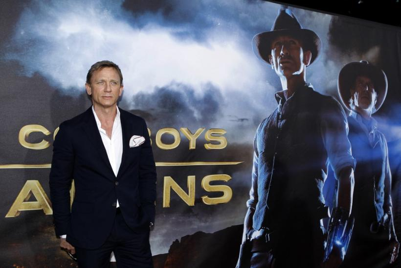Actor Daniel Craig arrives for the world premiere of his new movie Cowboys & Aliens