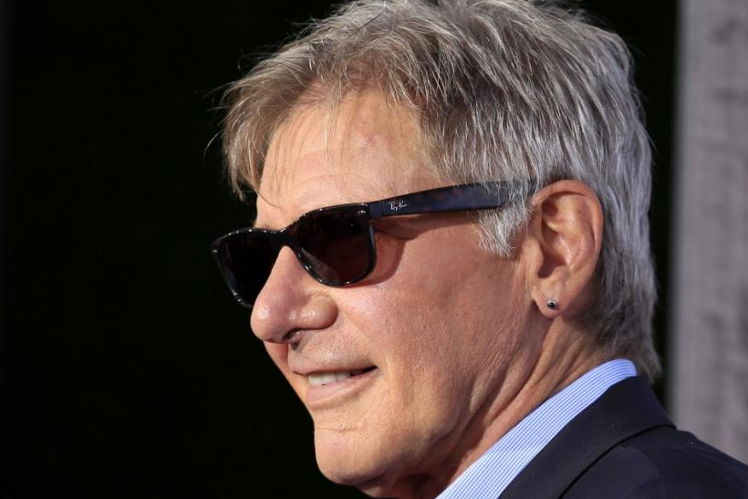 "Actor Harrison Ford arrives for the world premiere of the movie ""Cowboys & Aliens"" in conjunction with Comic Con in San Diego"