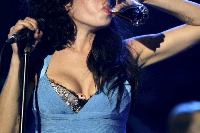 Amy Winehouse performing at the St. Lucia Jazz Festival
