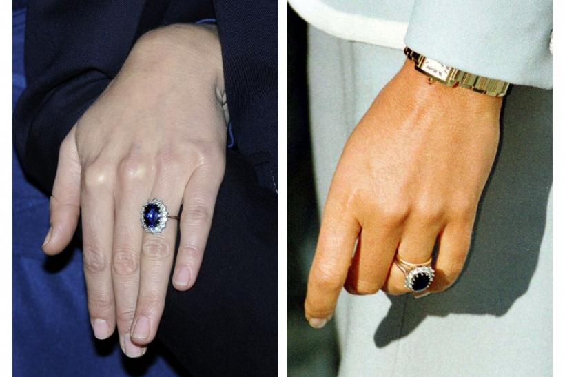 Kate middleton's sapphire and diamond engagement ring