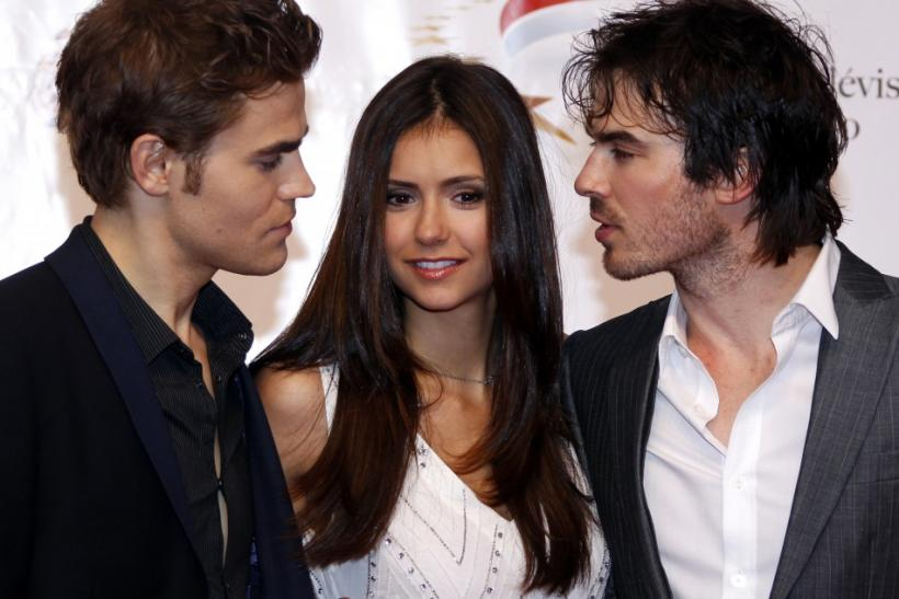 Nina Dobrev and the Salvatore Brothers of Vampire Diaries