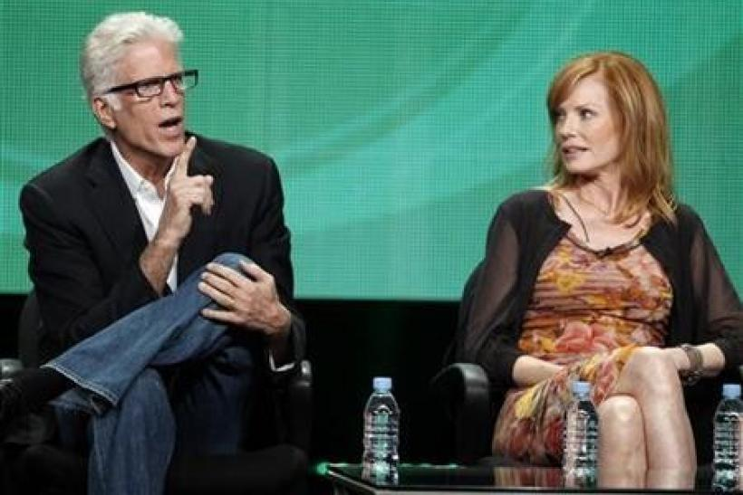 Ted Danson (L) and Marg Helgenberger