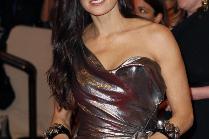 Actress Demi Moore arrives at the Metropolitan Museum of Art Costume Institute Benefit in New York.