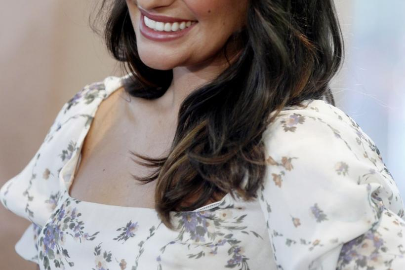 Actress Lea Michele arrives for the Hollywood Foreign Press Association annual installation luncheon in Beverly Hills, California