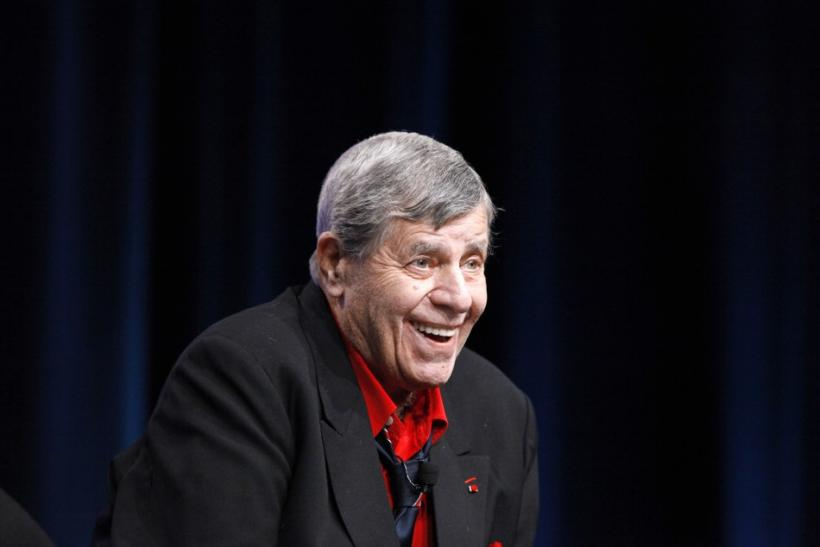 "Actor and comedian Jerry Lewis attends the encore session for ""The Method to the Madness of Jerry Lewis"" at the 2011 Summer Television Critics Association Cable Press Tour in Beverly Hills, California"