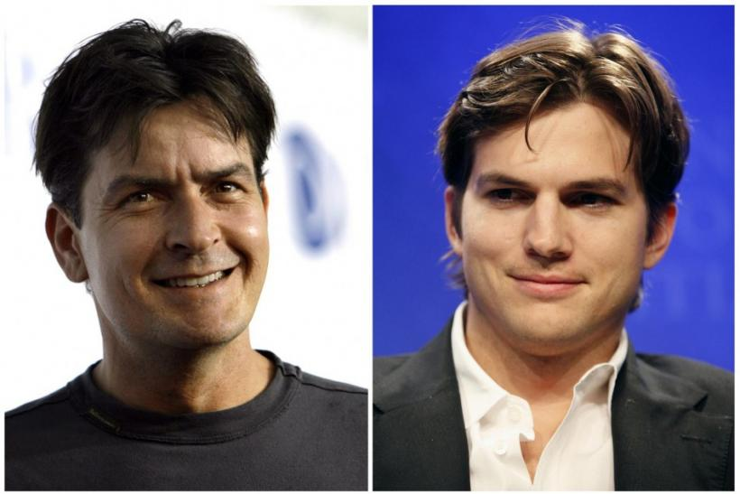 Combination file photograph of actors Charlie Sheen and Ashton Kutcher.