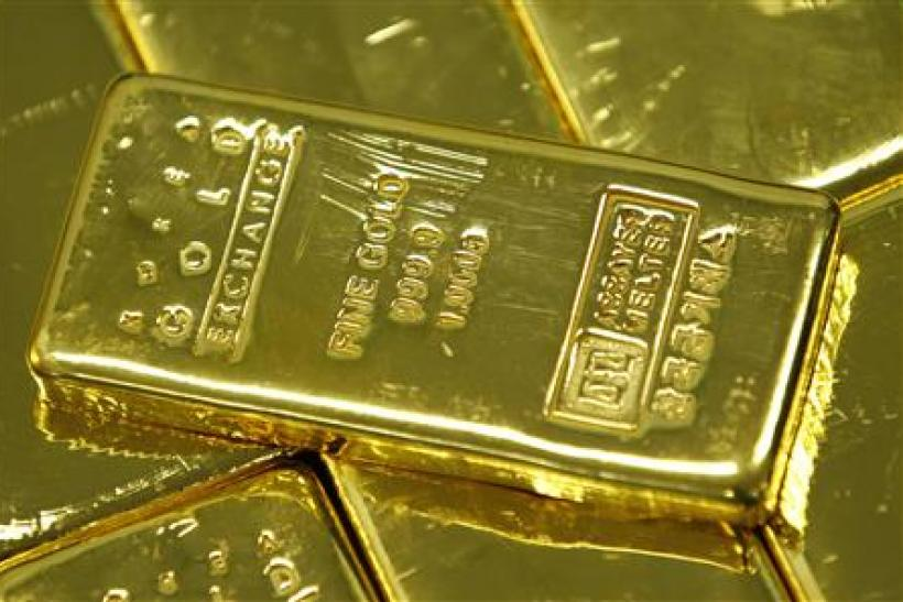 One kilogram gold bars are seen in this picture illustration