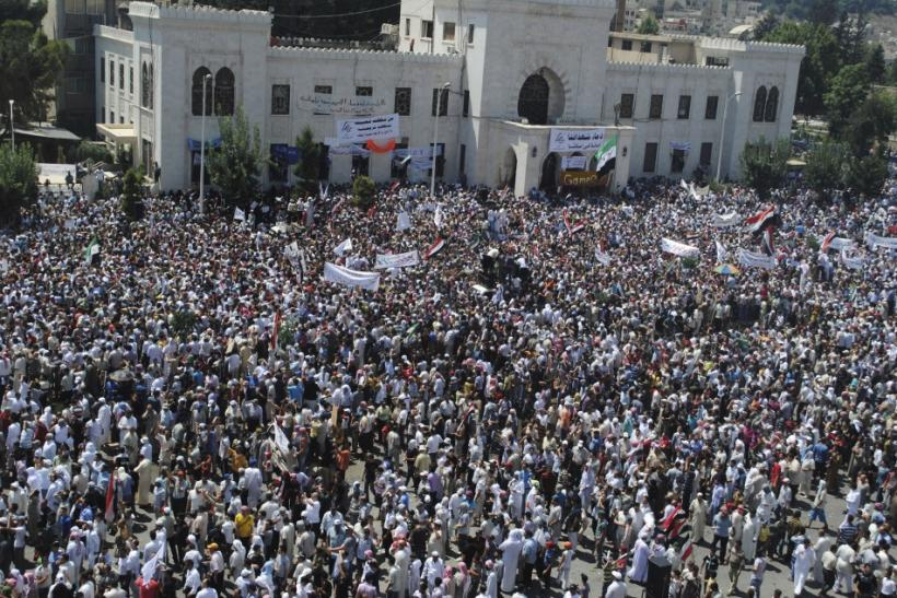 Large scale protest in Hama, Syria