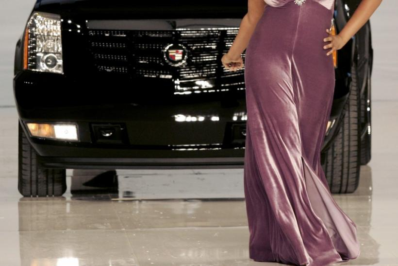 Jennifer Hudson and Cadillac Escalade 550 appear at GM Style Event in Detroit
