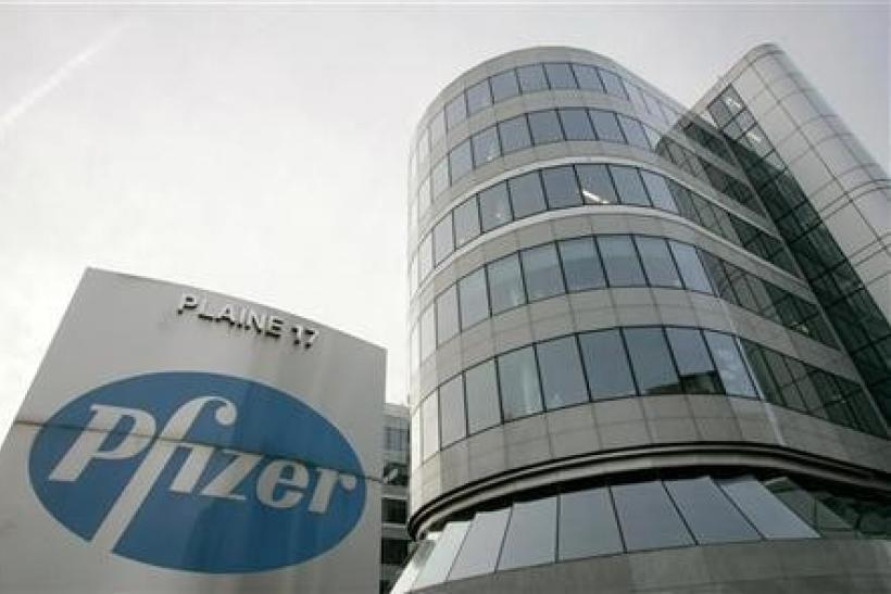 A view of the Belgian headquarters of U.S. pharmaceutical giant Pfizer