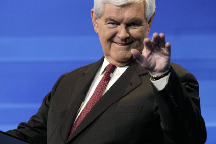 U.S. Republican presidential candidate Newt Gingrich, the biggest debtor in the 2012 presidential race