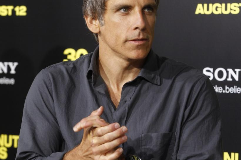 "Ben Stiller, producer of the new film ""30 Minutes Or Less"", poses at the film's premiere in Hollywood, California"