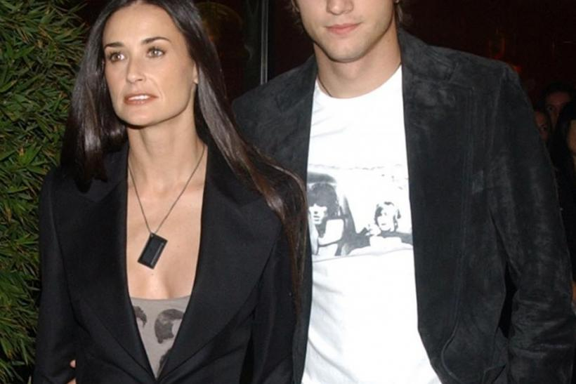 DEMI MOORE AND ASHTON KUTCHER ARRIVE FOR OPENING OF STELLA MCCARTNEY BOUTIQUE IN LOS ANGELES.