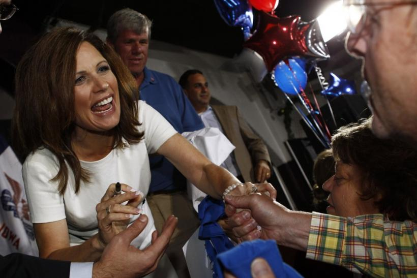 Republican presidential candidate and Tea Party symbol Michele Bachmann