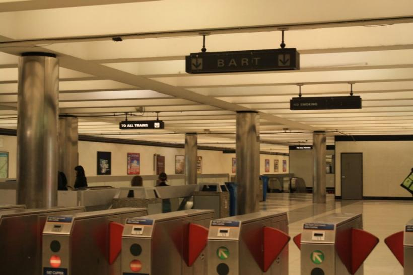 A BART station in downtown San Francisco