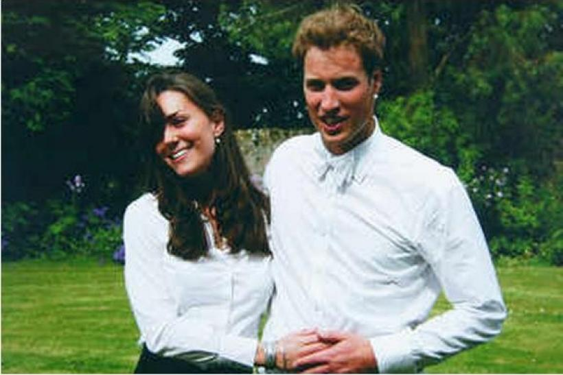 Kate and William pose for a photograph on the day of their college graduation.