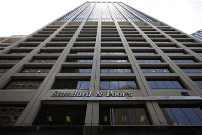 The Standard and Poor's building is seen in New York