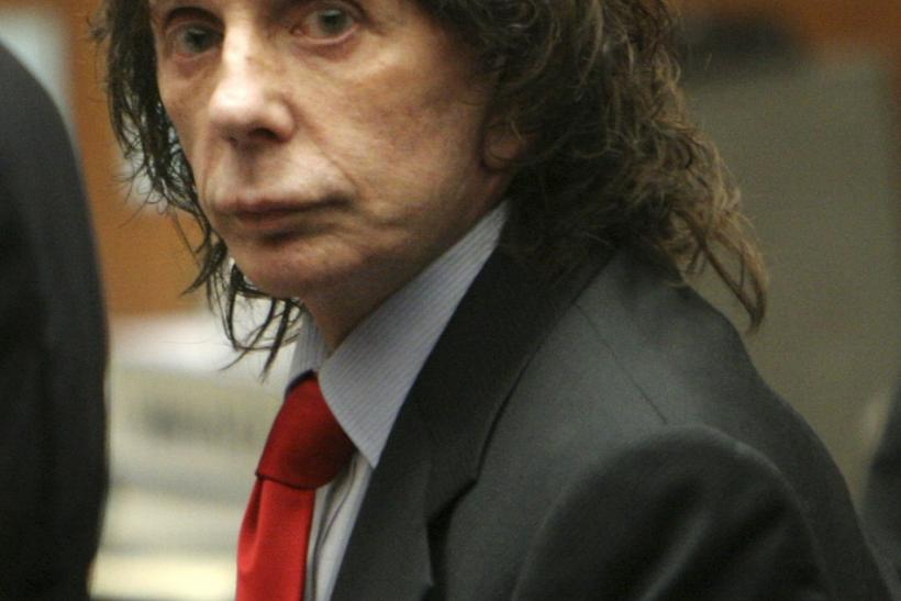 Music producer Phil Spector stands in court after he was convicted of second-degree murder in Los Angeles