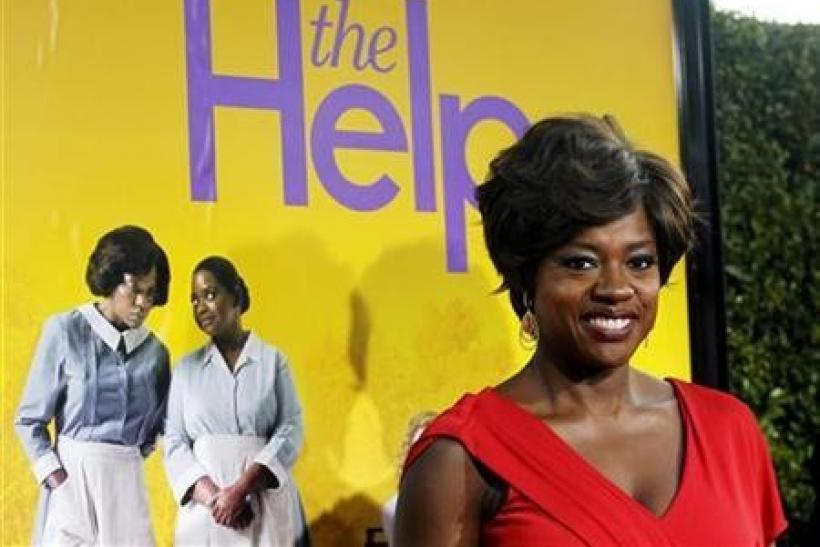 Cast member Viola Davis poses at the premiere of the movie ''The Help'' at the Samuel Goldwyn Theatre in Beverly Hills, California