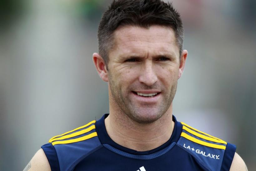 Ireland's Robbie Keane trains with Los Angeles Galaxy for the first time after signing with the MLS soccer team in Carson, California