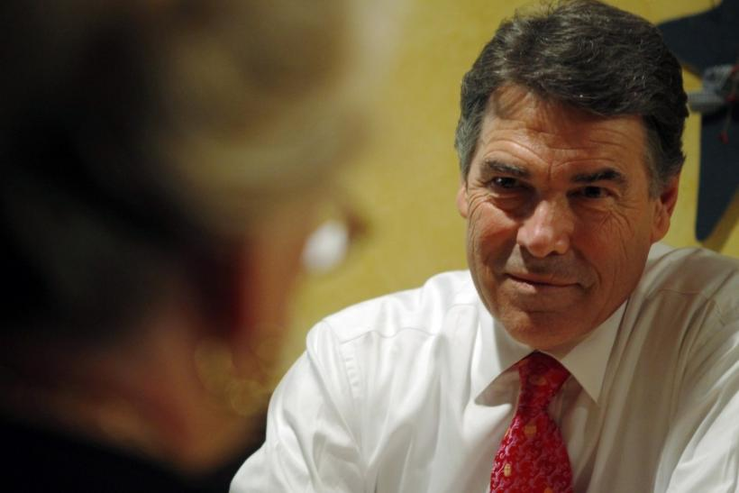 U.S. Republican presidential candidate Texas Governor Rick Perry