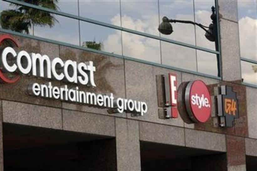 The offices and studios of Comcast Entertainment Group which operates E! Entertainment Television, the Style Network and G4 network is pictured in Los Angeles