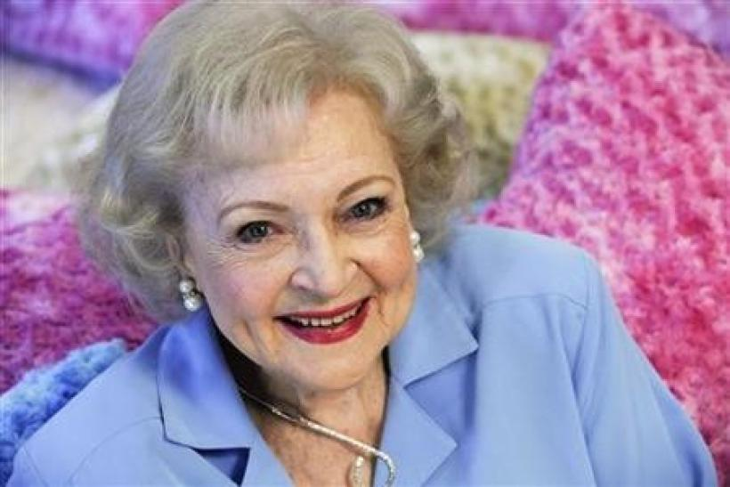 Actress Betty White poses for a photograph in Los Angeles, California