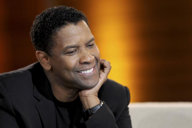 "U.S. actor Denzel Washington takes part in the German game show ""Wetten Dass"" (Bet it...?) in Hanover"