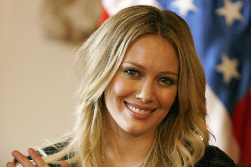 Actress, singer and author Hilary Duff.