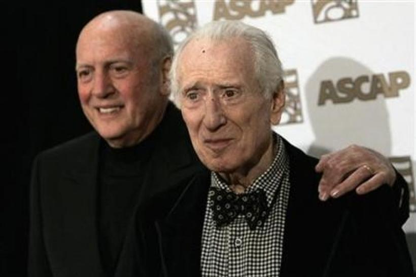 Song writers Mike Stoller (L) and Jerry Leiber arrive at the 25th Annual ASCAP Pop Music Awards at the Kodak theatre in Hollywood, California