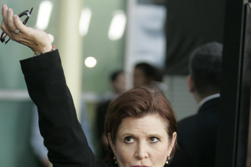 "Actress Carrie Fisher arrives for the premiere of her new film ""Sorority Row"" in Hollywood, California September 3, 2009."