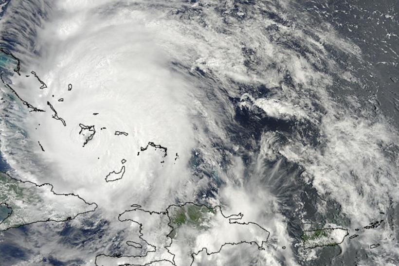 The MODIS Instrument aboard NASA's Terra satellite captured this visible image of Hurricane Irene over the southern Bahamas