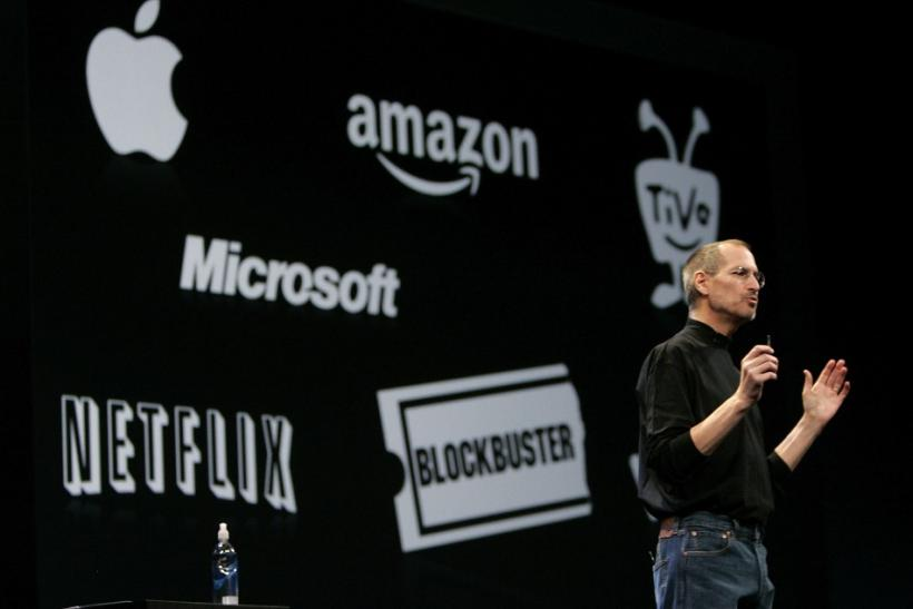 Apple CEO Steve Jobs gives his keynote address at the Macworld Convention and Expo in San Francisco