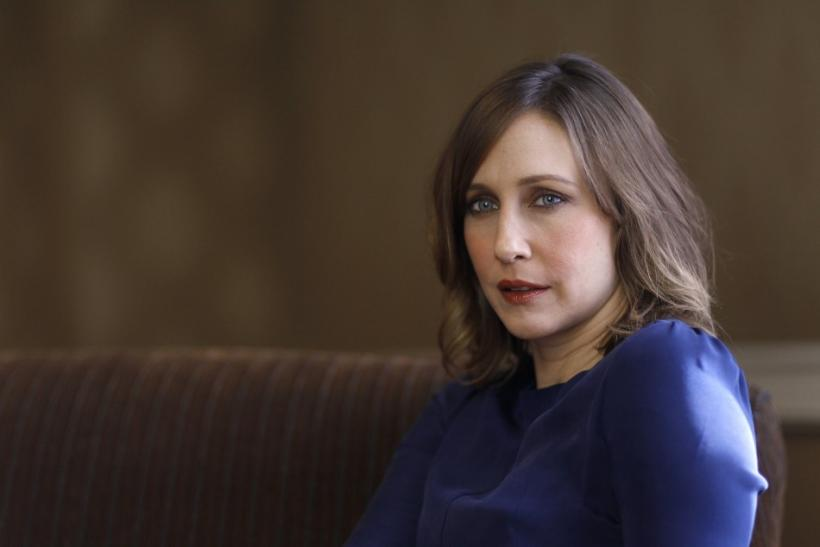 "Director and cast member Vera Farmiga poses for a portrait while promoting her upcoming movie ""Higher Ground"" in Los Angeles"