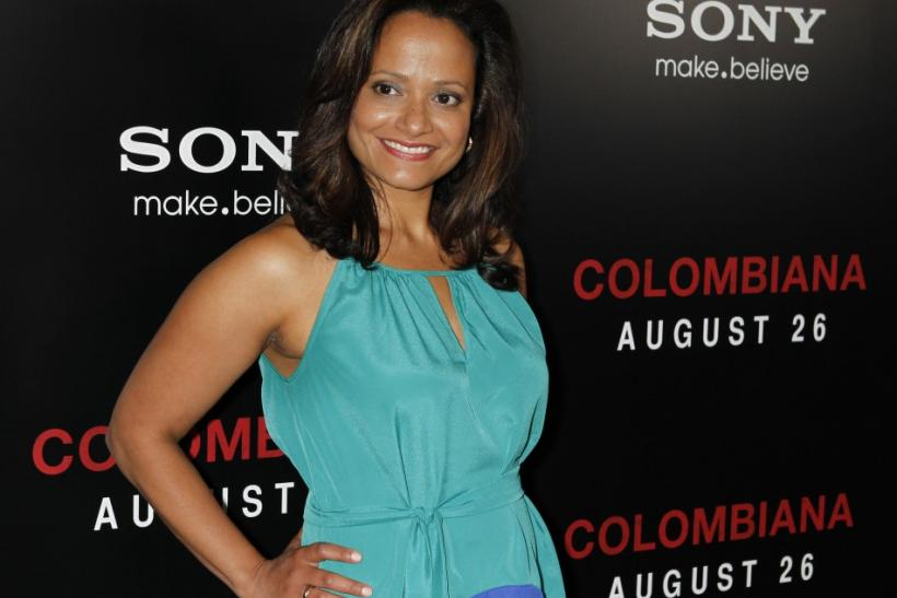 "Actress Judy Reyes arrives as a guest at a special screening of the new film ""Colombiana"" in Los Angeles, California"