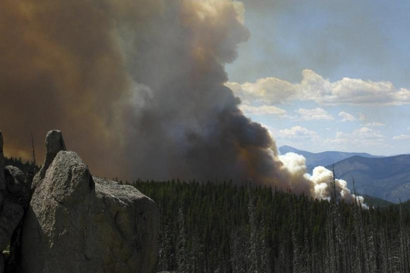 Handout photo of the Saddle Complex Fire in Idaho