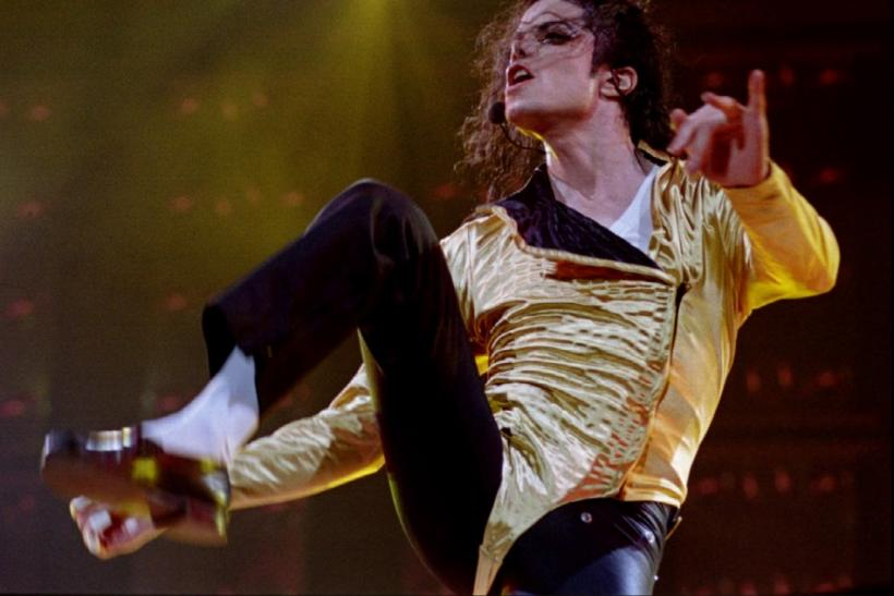File photo of Pop star Michael Jackson performing during his second concert in Israel