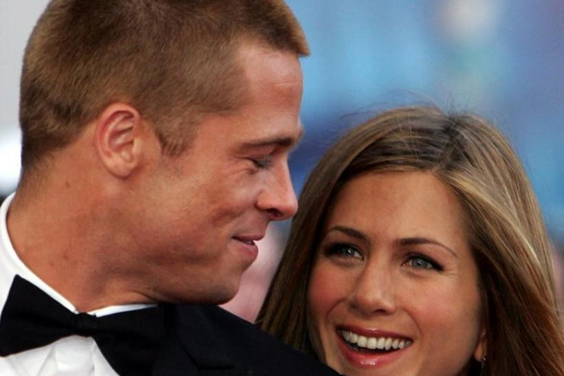 File image of Hollywood power couple Brad Pitt and Jennifer Aniston.