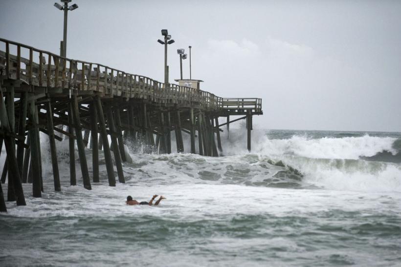 Tourists, Surfers, Beachgoers Enjoy their Last Bit on U.S. East Coast Ahead of Irene
