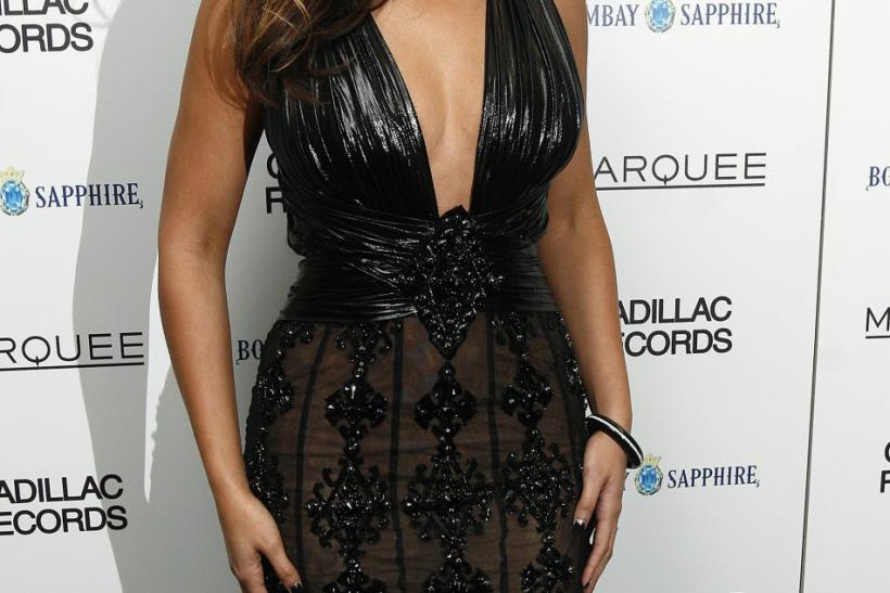 "Beyonce looks striking in this black evening gown at the premiere of ""Cadillac Records"" in New York December 1, 2008."